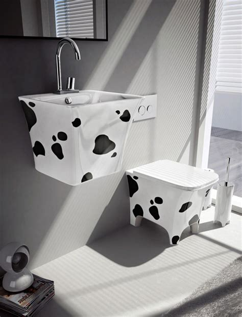 fun bathroom fixtures by artceram cow