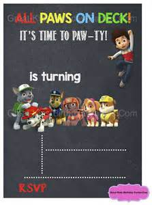 paw patrol templates 25 best ideas about paw patrol invitations on