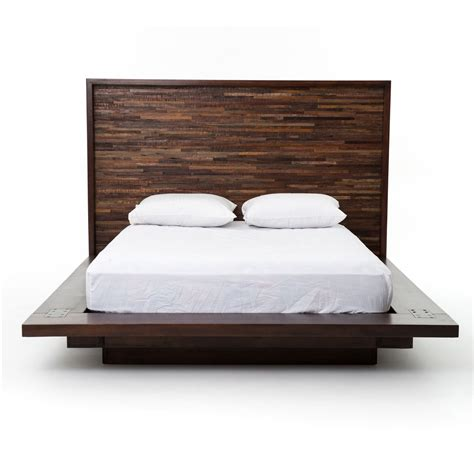 wood platform bed frame reclaimed wood platform bed frame zin home