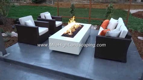 contemporary firepits mile high landscaping denver co modern pit design