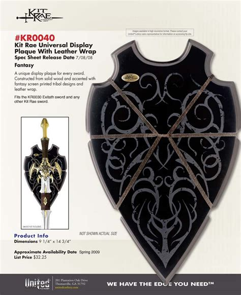 kit exotath scabbard kit scabbards and displays
