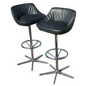 2 vintage bar counter stools arne jacobsen style base mr10383 ebay