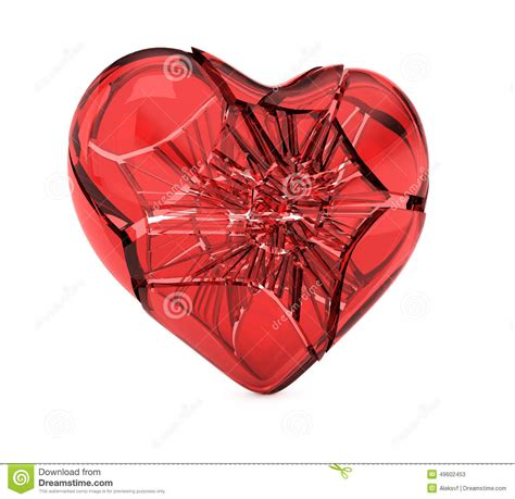 broken glass heart stock illustration image 49602453