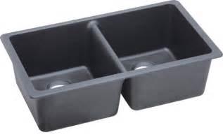 E Granite Kitchen Sinks Elkay Gourmet E Granite Undermount Bowl Sink Dusk Gray Elgu3322gy0 Contemporary