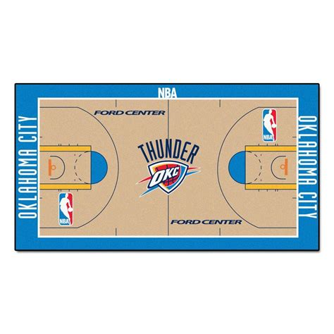 fanmats oklahoma city thunder 2 ft x 3 ft 8 in nba
