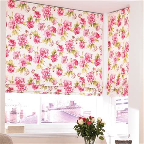 pink patterned roman blind roman blinds black country blinds