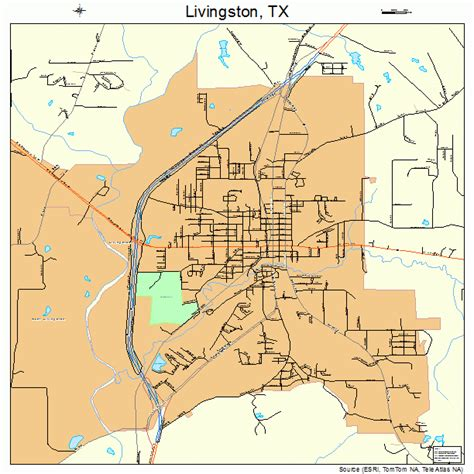 where is livingston texas on a map livingston texas map 4843132