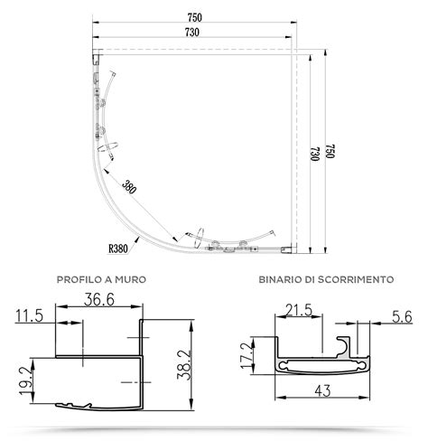 box doccia 75x75 semicircolare box doccia 75x75 semicircolare cristallo trasparente
