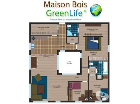 Maison A Patio by Maison Bois Toit Terrasse Et Patio Kit Rt2012 Greenlife