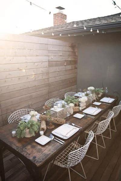 comedor exterior hierro  madera   home