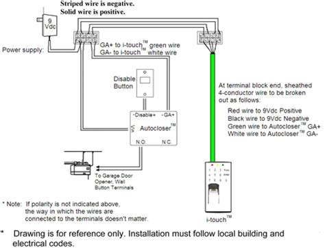 garage door opener wiring installation wiring diagram