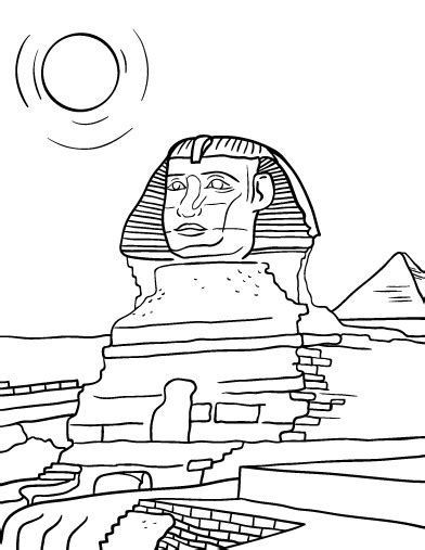 The Sphinx Coloring Book Pages Coloring Pages Sphinx Coloring Page