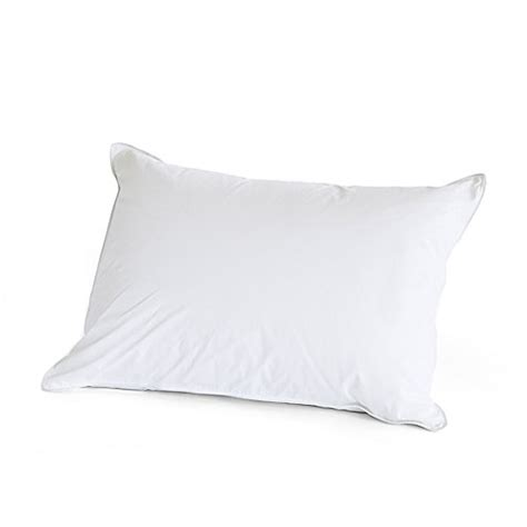 bed bath and beyond feather pillow buy the pillow bar 174 standard feather down back sleeper pillow from bed bath beyond