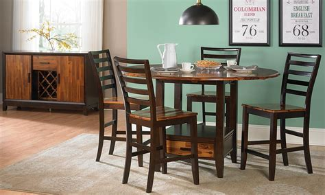 pub dining room sets dining room wood pub height dining set with round table