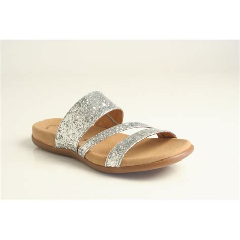 silver sparkly sandals gabor gabor style tomcat 2 silver sparkly slip on sandal