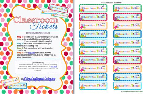 Printable Reward Tickets Classroom | 8 best images of school free printable tickets printable
