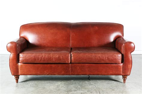 vintage burgundy leather sofa vintage supply store