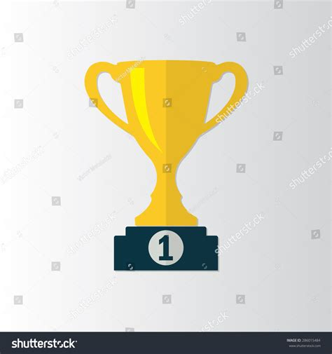 indonesian wins 1st prize in product design contest abroad trophy cup icon on prize podium stock vector 286015484