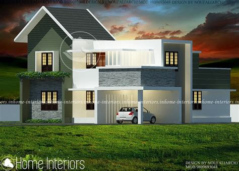 1800 square floor 4 bhk modern home design 1800 square 4 bhk contemporary budget home design