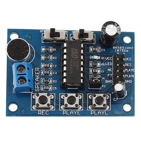 Pcb Mic Lifier B 23ms Belt isd1820 sound voice board recording module robu in indian store rc hobby robotics