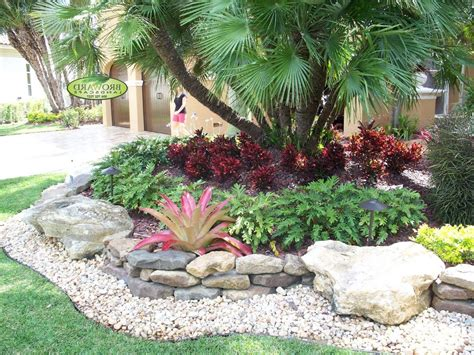 miami bromeliads landscaping landscape tropical with stone