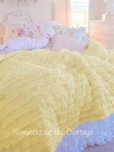 yellow shabby chic bedding shabby yellow cottage chic ruffled comforter set