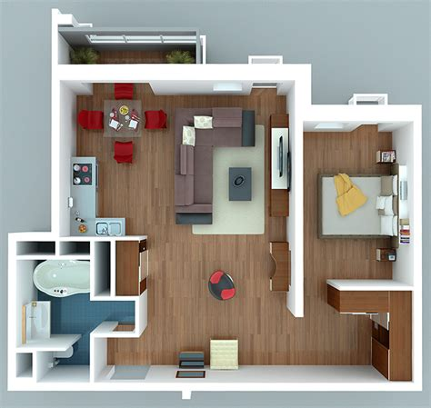one bedroom apartment designs exle 171 187
