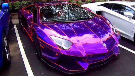 Lambo Aventador violet details HD   YouTube