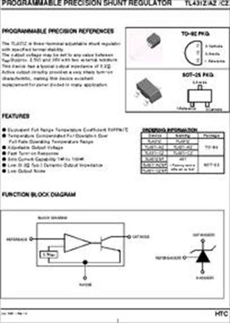 tl431az datasheet programmable precision shunt regulator