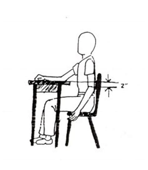 proper chair height for desk proper chair and desk height occupational therapy