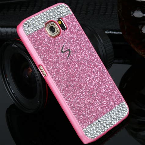 Glitter Air Soft Samsung Galaxy S6 Edge bling glitter pc back cover for samsung galaxy