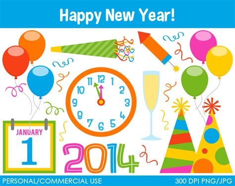 new year clip set new years clipart 71