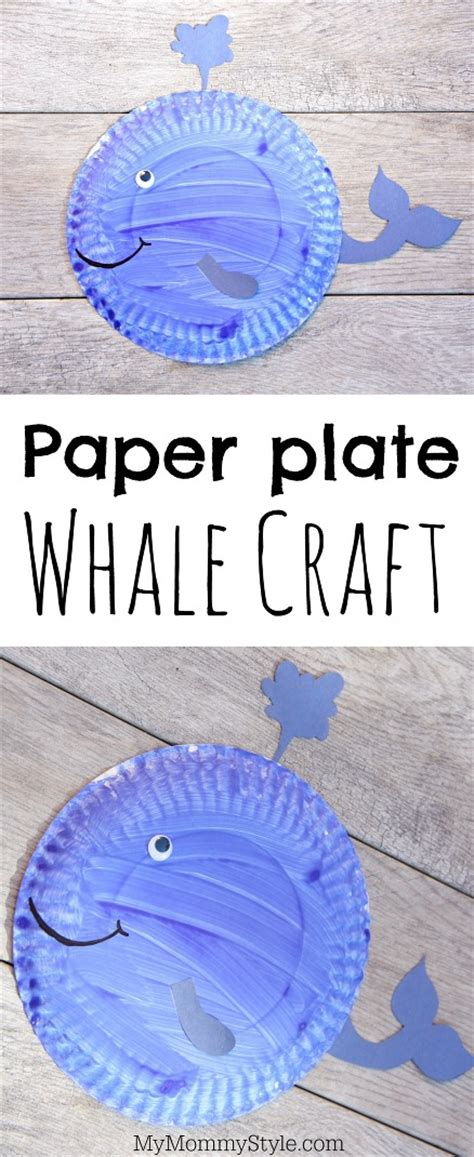 Whale Paper Plate Craft - paper plate walrus craft my style
