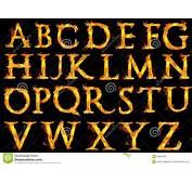 Letras Del Alfabeto En El Fuego Foto De Archivo  Imagen