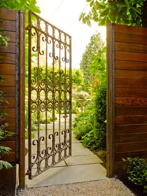 wrought iron gate designs patio with none