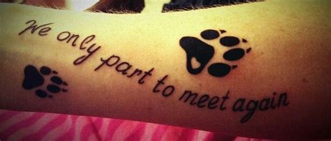 tattoo quotes for dogs a memorial paw print tattoo for all dogs who have brought