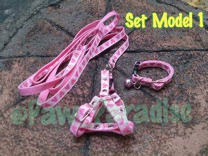 Harness H Leash Kucing Musang Kelinci Puppy Small Breed Rd04 jual mini set pet collar harness leash tali kalung
