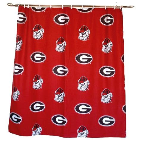 georgia bulldogs shower curtain discount fan sport shower curtain to sale sale