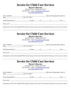 receipt template daycare | example good resume template, Invoice examples