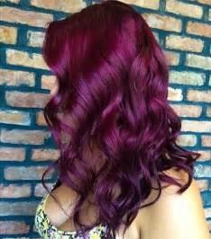 reddish purple hair color ombre hairstyles vpfashion