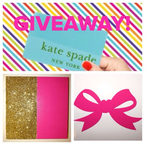 Kate Spade Gift Card - giveaway 100 kate spade gift card bow decal custom canvas
