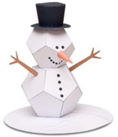 How To Make 3d Snowman Out Of Paper - the automata paper snowman model automata