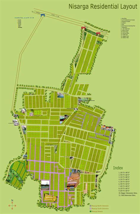 nisarga layout bannerghatta road map gated community plots jigani bangalore bhartiya one