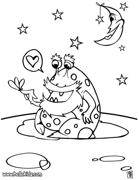 space monster coloring page alien coloring pages hellokids com