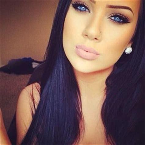 girl with black hair blue eyes make up image 1880359 by taraa on favim com