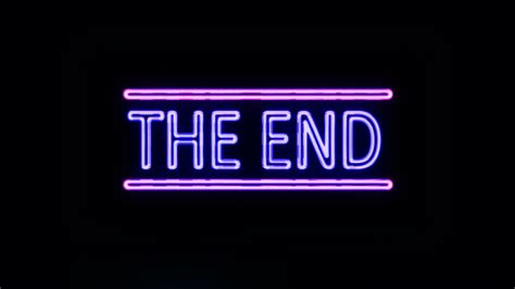 End Of by The End Sign Neon Www Pixshark Images Galleries