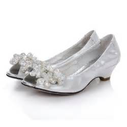 Comfortable Silver Shoes For Wedding Low Heel Rhinstone Platform Open Toes Silver Comfortable