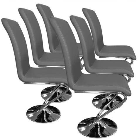 chaise virage lot de 6 chaises colami gris achat vente chaise salle a