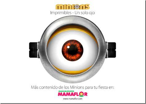 imagenes de los minions ojos molde minions imprimible lente de un solo ojo