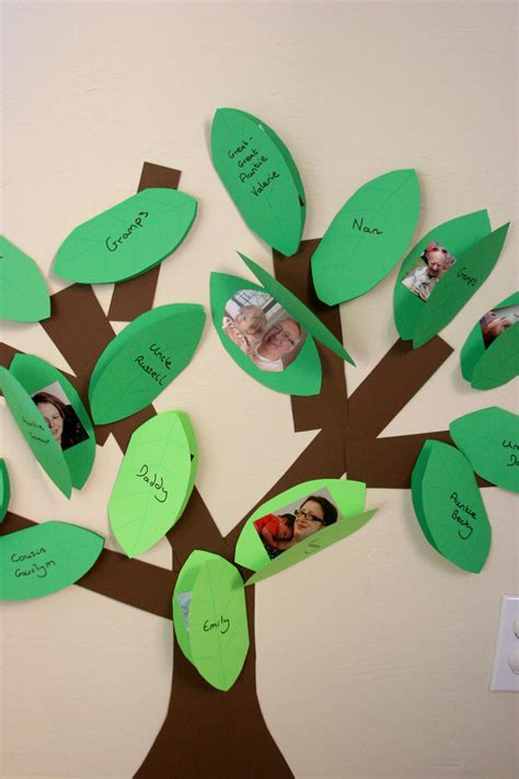 family craft projects a crafty our family tree pinwheels and stories